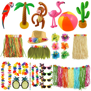 HAWAIIAN LUAU TROPICAL PARTY DECORATIONS BBQ SUMMER BEACH FLOWER DECOR ACCESSORY