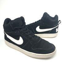 Men's Nike Court Borough Mid (838938-010) Basketball Shoes Black/White Size 10