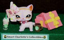 Lps 💕 Littlest Pet Shop Short hair Cat #933 Authentic W/ Brown Eyes � Bag