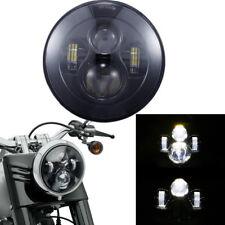 1x 7Zoll LED H4 Hauptscheinwerfer Abblend-Fernlicht Nebelleuchte 40W für Harley