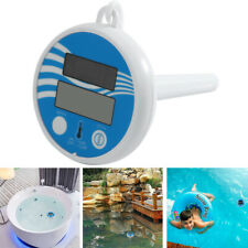 Solarbetriebene Poolthermometer Schwimmbad Thermometer mit LCD Anzeige