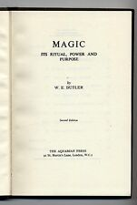Magic its ritual power and purpose W E Butler 1967 Second Ed. Hard back Occult