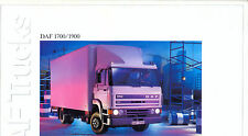 DAF 1700 1900 UK market sales brochure