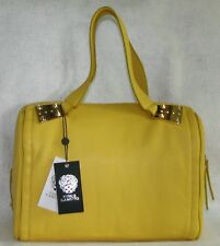 VINCE CAMUTO LEATHER HANDBAG, IN SUNFLOWER - MSRP $248.00 - NEW