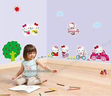 Grande Hello Kitty Adesivi Da Parete Rimovibile Art Decalcomania Ragazze Bambini Camera Da Letto Carta Da Parati