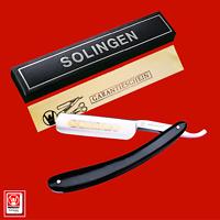 """Solingen® Weltmeister® Rasiermesser 6/8"""" Weltmeister Goldätzung, Echt Horngriff"""