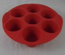 Tupperware H 24 Muffin Reigen Muffinform rund Silikonform Backform Form Rot GB