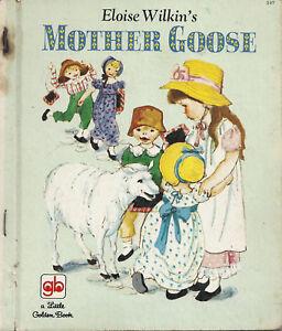 LITTLE GOLDEN BOOK 397 Vintage 1971 Eloise Wilkin's MOTHER GOOSE G Press Sydney