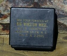 RARE VINTAGE EARLY 50s BIG WINSTON WAREHOUSE ADVERTISING CASE -SELL YOUR TOBACCO