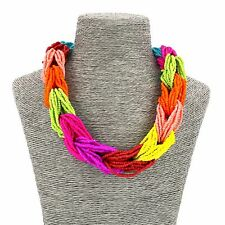 Lady Fashion Jewellery Girls Boho Beads Party Short Collar Necklace For Women