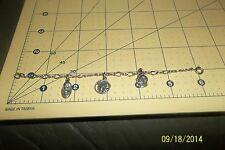 Vintage Religious Catholic Christian 3 medal Charm Bracelet Sterling Silver