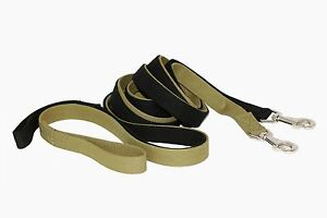 Durable Military Canvas Training Dog Leash Lead With Loop Handle Green Black