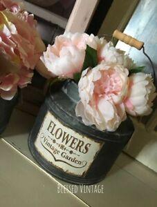 Vintage Style Tin Urn / Vase - Brand New - Medium Size