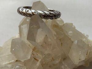 Judith Ripka Sterling Silver Burnished Diamonique Band Ring,Sz.10