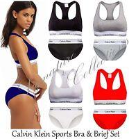 Ladies Women Underwear Calvin Klein Sports Bra thong Ck Underwear Ck bra thong