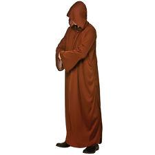 Da Uomo con Cappuccio Jedi Robe Costume Marrone per Star Wars SPACE Rogue Eroe Costume