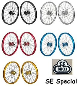 SE Racing Bicycle 20in BMX Wheel Set 3/8 Axle 36H FreeWheel D/Wall Variations