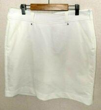 Galvin Green Golf Skort Skirt Women's White A-Line Pocket UK10 12 EUR 38-R754