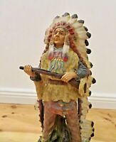 Indianer  Büffel Westernfiguren  30x13 Indianerfigur groß Western Deko Statue