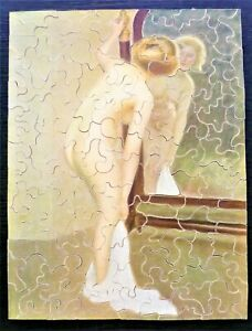 Vintage Suffolk Art Wooden Jigsaw Puzzle.