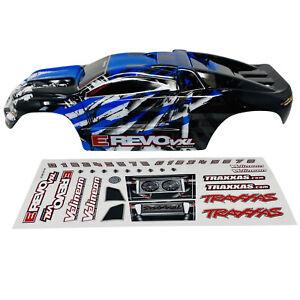 Traxxas E-Revo VXL 1/16 - Blue/White BodyShell - Body Shell - Decals 7111