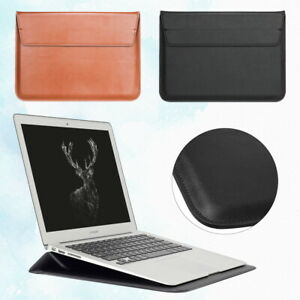 PU Leather Stand Pouch Sleeve Bag Case For Apple MacBook Air Pro 11'' 13'' 15''
