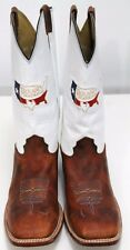 Larry Mahan Texas National  Mens Cowboy Boots Sz 11.5 XE Wide Embroidered Brown