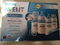 Philips Avent SCD371 Newborn baby Bottle Kit 4 bottles Starter Set Classic +