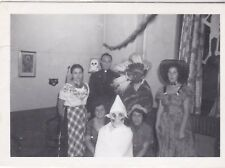 Vintage 1950's photo of a Halloween party #1