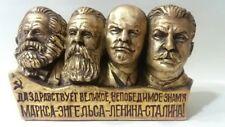ORIGINAL Soviet Russian liders LENIN & Stalin & MARX & ENGELS  bust H-10 cm