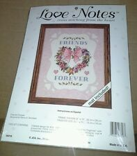 NIP JCA Love Notes Friends Forever Counted Cross Stitch Kit USA Mat Included