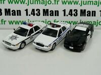 Lot 3 X 1/43 Police Du MONDE USA IST Ford Crown Victoria, Camaro SS PM12 26 47