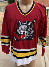 vtg Chicago Wolves Hockey jersey Mens Large Starter Maroon IHL AHL 1994