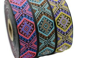 10 yard 25 mm embroidered ribbon, Jacquard ribbon, 0.98 inc, costume ribbon