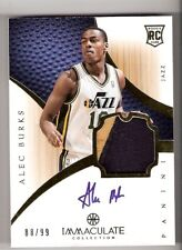 Alec Burks 12/13 Immaculate Patch Auto RC #111 SN #88/99