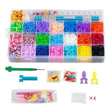 STSTECH Rainbow Loom Kit-5600 Rubber Bands 22 Colors 1 Loom 2 Y-Shape Mini Lo...
