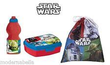 Star Wars set colazione Box porta panini merenda borraccia + sacchetto scuola