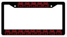 Black License Frame DOMO KUN Red JDM