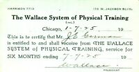 PASS-P 1925 WALLACE SYSTEM of PHYSICAL TRAINING GORMAN Chicago R.I. & Pacific