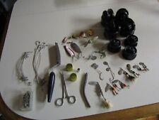 Vintage Lot Of Fishing Gear- 7- Spools-Plus- Good Assortment!
