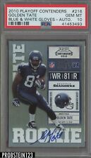2010 Playoff Contenders #216 Golden Tate Blue White Gloves PSA 10 Auto Rookie
