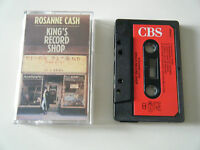 ROSANNE CASH KING'S RECORD SHOP CASSETTE TAPE 1987 RED PAPER LABEL CBS UK