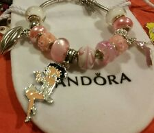 AUTHENTIC PANDORA BRACELET 💝Pandora Bail w/BETTY BOOP + EURO CHARMS W/BAG