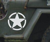 Adesivo STELLA Jeep CJ CJ3 CJ5 CJ7 CJ8 US ARMY cm 20x20 stella militare 4X4