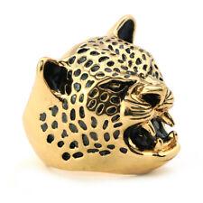 "Panther"" Gold Plated Ring Bk010G Hip Hop Kendrick Lamar Fashion ""Black"