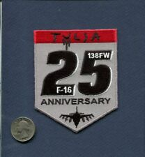 138th TFS 25th Anniversary ANG USAF F-16 FALCON Fighter Squadron Patch