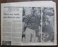Jack Nicklaus April 14, 1975 Boston Globe Sports - Three Way Battle at Masters