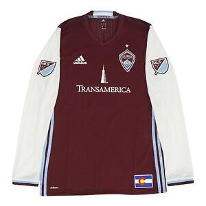 Colorado Rapids MLS Adidas Men's Burgundy Authentic On-Field Long Sleeve Jersey
