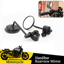 22-25mm Motorcycle Handlebar Retro Rearview Side Mirrors with Mounting Clamps