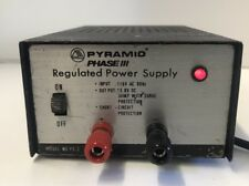 """Pyramid Phase Iii"" Regulated Power Supply 13.8V 3Amp Model No. Ps-3"